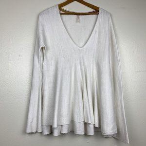 Free People Split Side Bell Sleeve Sweater